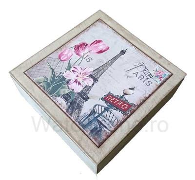 Cutie Decorativa Pentru Bijuterii - Eiffel Tower foto