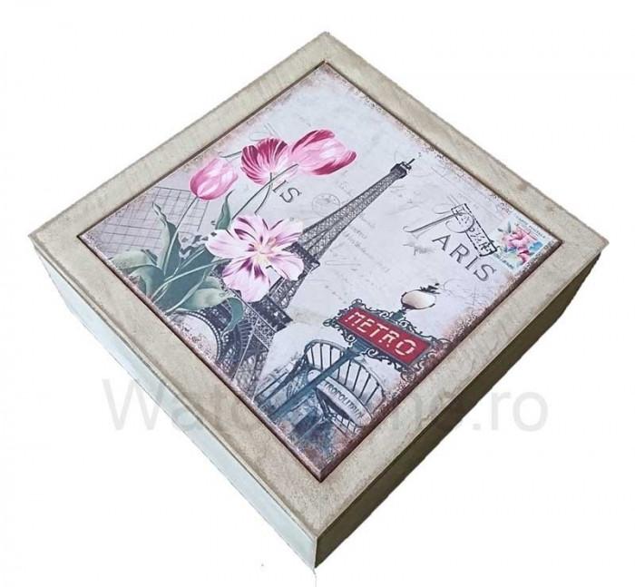 Cutie Decorativa Pentru Bijuterii - Eiffel Tower