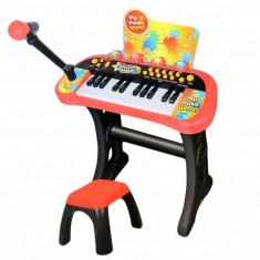 Orga cu scaunel si microfon pentru copii MY66311-L