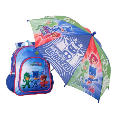 Ghiozdan scoala Pjmasks, 24 x 12 x 30 cm, umbrela inclusa foto