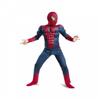 Costum Spiderman cu muschi Infinity War pentru copii, S, 95 - 110 CM, 3 - 5 ani foto