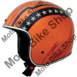 MBS Casca semi-integrala FX76 Vintage, portocaliu/crom, L, Cod Produs: 01041180PE