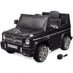 Mașinuță ride-on SUV Mercedes Benz G65, 2 motoare, negru