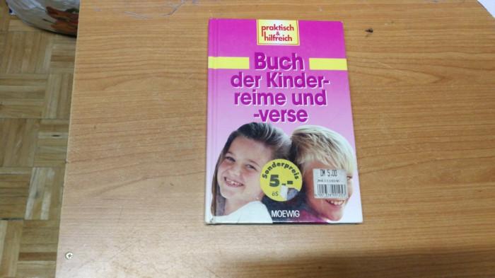 Carte Buch der Kinderreime und äverse, germana