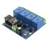 Modul placa de dezvoltare, 4 relee, 12V, WIFI cu ESP8266EX, 103776