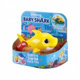Jucarie interactiva Baby Shark Rechin, Galben