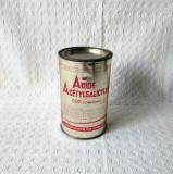Cutie veche din tabla Acid acetilsalicilic - URSS, cutie aspirina din comunism