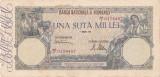 ROMANIA 100000 LEI APRILIE 1946 VF