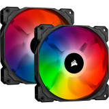 Dual Fan Kit cu Lighting Node CORE Corsair iCUE SP140 RGB PRO Performance 140mm
