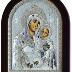 Icoana Argintata Maica Domnului de la Bethleem 10x14 cm Cod Produs 1639