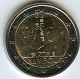 LUXEMBURG moneda 2 euro comemorativa 2018- 175 ani de la moartea Ducelui, UNC, Europa, Cupru-Nichel