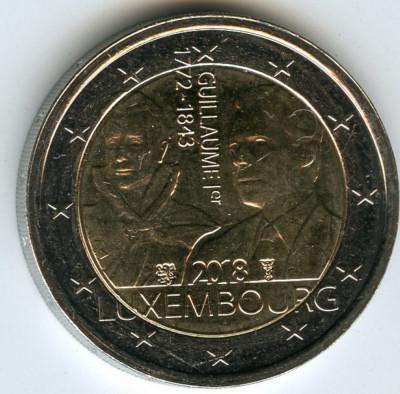 LUXEMBURG moneda 2 euro comemorativa 2018- 175 ani de la moartea Ducelui, UNC foto