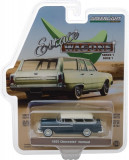 Cumpara ieftin 1955 Chevrolet Nomad - Glacier Blue and Shoreline Beige Solid Pack - Estate Wagons Series 1 1:64