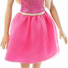 Papusa Barbie Stralucitoare blonda cu rochita roz
