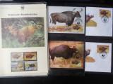 Serie timbre fauna WWF animale bivol nestampilat postale filatelice