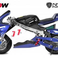 Mini Motocicleta electrica pentru copii NITRO Eco Pocket Bike 1000W Albastru