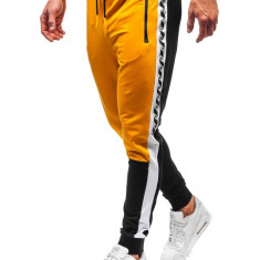 Pantaloni trening bărbați galben-negru Bolf 6820