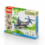 Set creativ piese lego, 3 modele elicoptere, copii 6ani+, Eco Builds