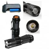 Mini Lanterna LED 1W cu Acumulator 14500 220V GK807