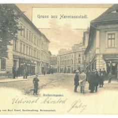 4993 - SIBIU, Market, litho, Romania - old postcard - used - 1901