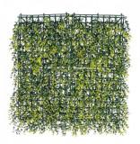 Panou plante artificiale verzi Buxus 50 cm x 50 cm, Bizzotto