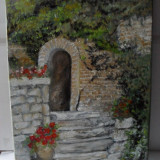 In gradina 1-pictura ulei pe panza;Macedon Luiza, Peisaje, Altul