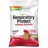 Respiratory Protect Dropsuri pentru Gat cu Aroma de Merisor si Zmeura 18buc.