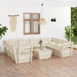 VidaXL Set mobilier grădină din paleți, 9 piese, lemn de molid tratat