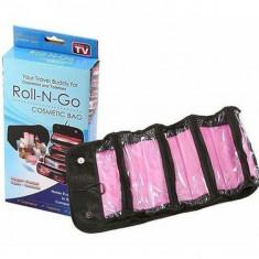 Organizator pentru cosmetice make-up si accesorii Roll-N-Go