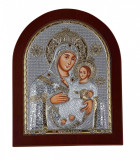 Maica Domnului de la Betleem pe Foita Argint 925 Auriu 190x156mm COD: 1400