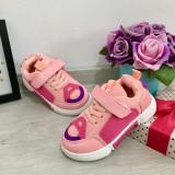 Cumpara ieftin Adidasi roz cu scai pantofi sport moi si flexibili pt fetite 25 26 27 28, Fete, 29