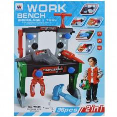 Banc de lucru (28x15x36 cm) + scule, 1 set/cutie
