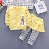 Compleu galben fetite - Bunny (Marime Disponibila: 3 ani)