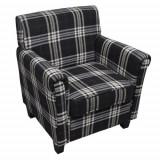 Cumpara ieftin Fotoliu canapea cu pernă de scaun, material textil, negru