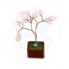 Copac cu cuart roz pe suport- model 2