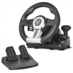 Volan Spirit of Gamer Race Wheel Pro + pedale, compatibil PC / PS2/3, Negru
