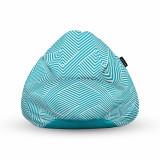 Cumpara ieftin Fotoliu Units Puf (Bean Bag) tip para, impermeabil, cu maner, 80 x 90 x 68 cm, motiv alb cu bleu