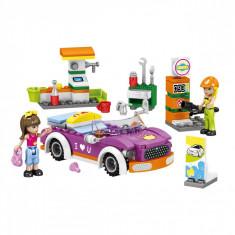 Set cuburi Lego, actual investing, model benzinarie, 180 piese