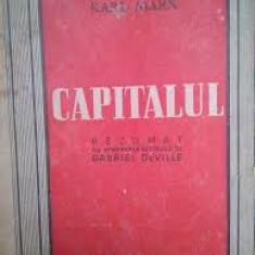CAPITALUL - KARL MARX REZUMAT CU APROBAREA AUTORULUI, DE GABRIEL DEVILLE