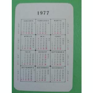 CCO 1977 - CALENDAR DE COLECTIE - TEMATICA  RECLAMA - CIORAPI - ADESGO - 1977