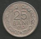 ROMANIA   RPR   25  BANI  1953   [1]   livrare in cartonas, Cupru-Nichel
