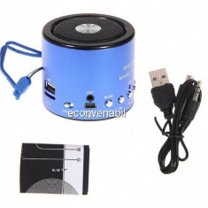Mini Boxa Portabila MP3 Player, Radio, Slot Card, USB WSA8