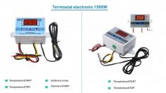 Termostat electronic digital Controler temperatura cu releu 220V 10A foto