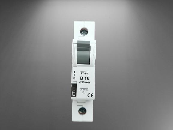 Siguranta automata curba B16,1p eti,Capacitate de rupere (kA) 4,5kA