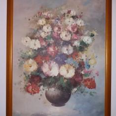 Tablou vechi - Vaza cu flori - Culori superbe (134)