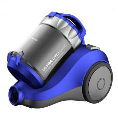 Aspirator fara sac Daewoo RCC-120L/2A, 800 W, 2 l, Tub telescopic, Filtru HEPA, Albastru/Gri