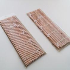 Set 2 suporturi pentru farfurii din bambus, nou, in tipla!