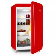 Klarstein POPART-BAR, frigider roșu, 136 L, design retro, 3 etaje, sertar pentru legume, A +