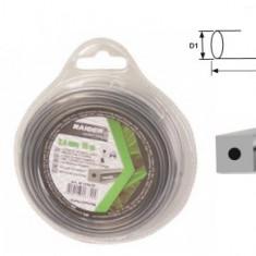 Rezerva de guta 2.4 mm x 15 m. profil patrat.insertie metalica. pentru trimere electrice si motocoase
