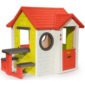 Casuta pentru copii Smoby My House cu masuta picnic